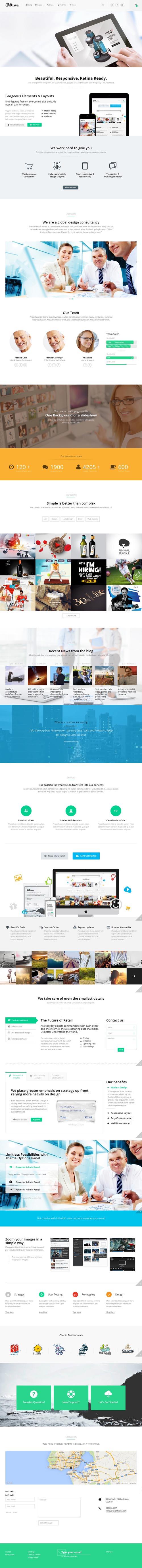 Welkome — One Page Multi-Purpose Theme