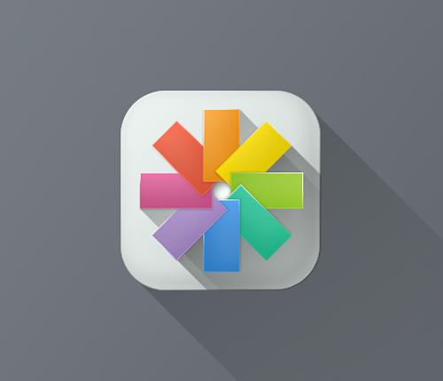 IOS 7 Long Shadow Icons