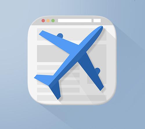 Lead Pilot Flat iOS Icon