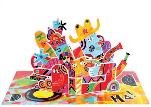 Design a pop-up illustration in Adobe Illustrator