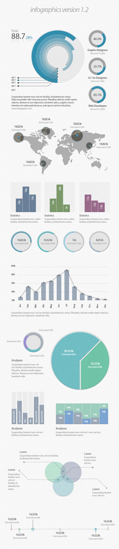 Infographic UI Vector Elements - 30