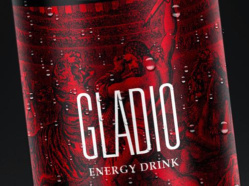 GLADIO Energy Drink Concept Packaging Design