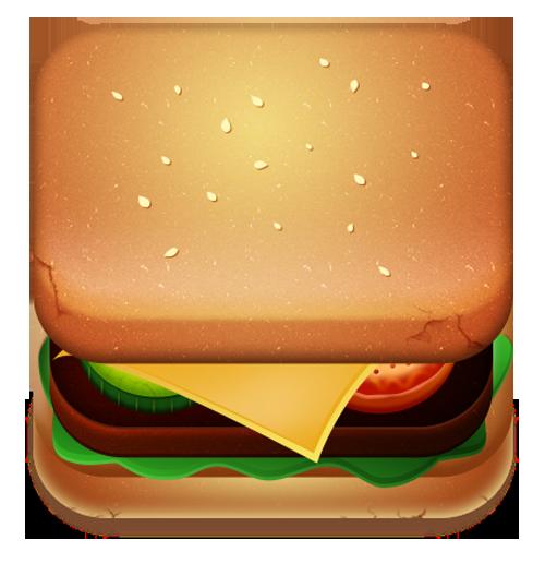 Burger IOS Icon Design
