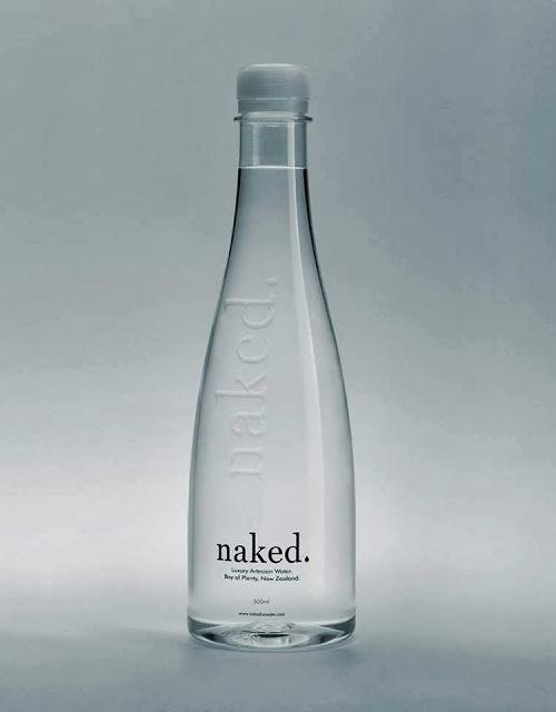 Naked Luxury Water Bottle Packaging Design
