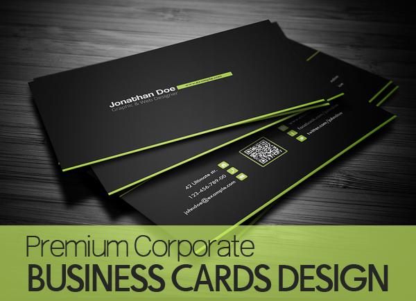 Premium Corporate Business Cards - 25 Design