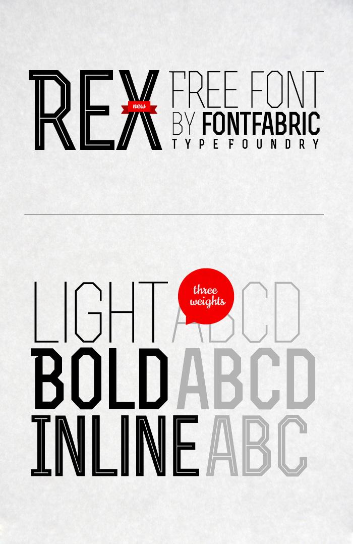 Rex free font