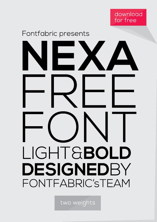 Nexa free font