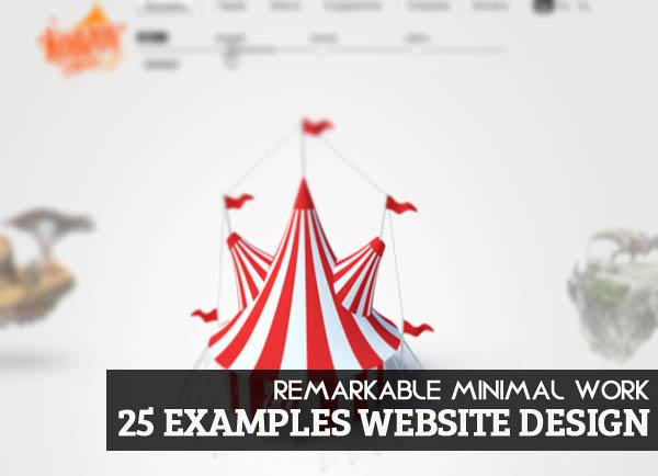 Remarkable Minimal Work in Website Design - 25 Examples