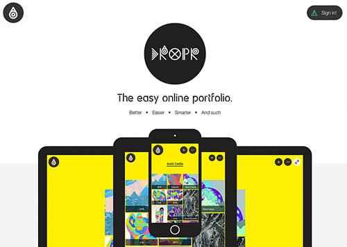 The easy online portfolio