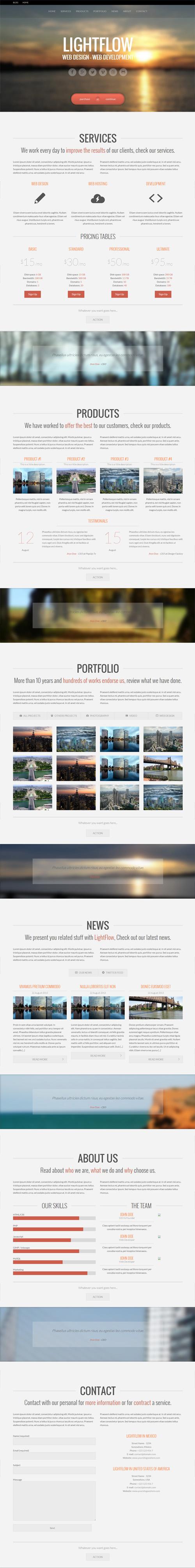 Lightflow – WordPress Responsive OnePage Parallax