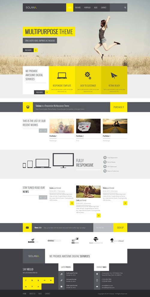 Solana – Responsive Multipurpose WordPress Theme