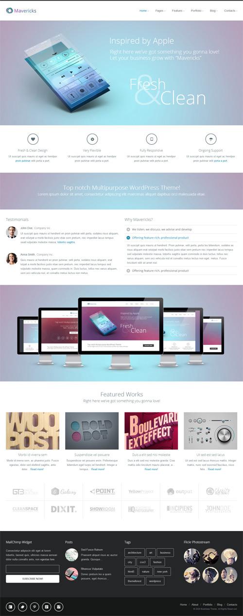 Mavericks – Business & Portfolio WordPress Theme