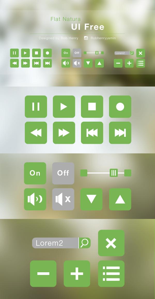 Flat Natura UI Free