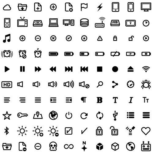 Free UI Vector Icon Set