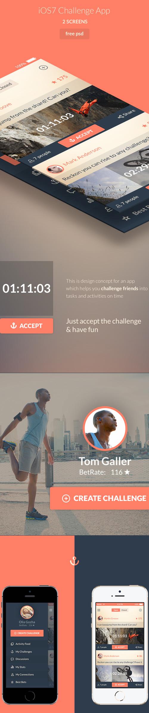 Betanchor - free iOS7 app design
