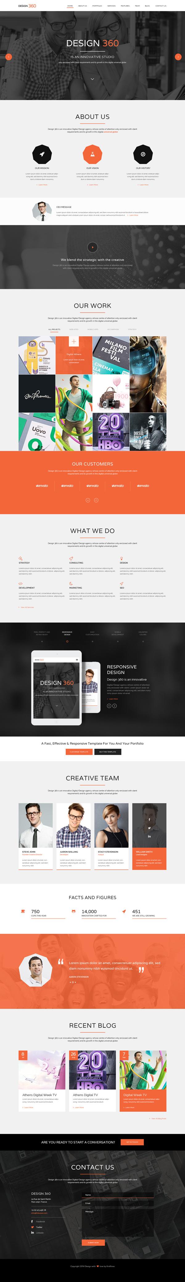 Design 3605 - Single Page PSD HTML5 Template