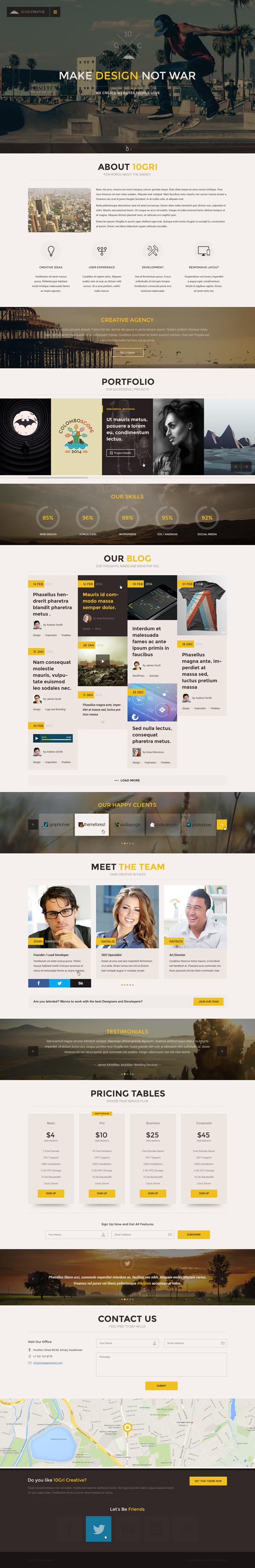 105GriCreative - OnePage PSD HTML5 Theme