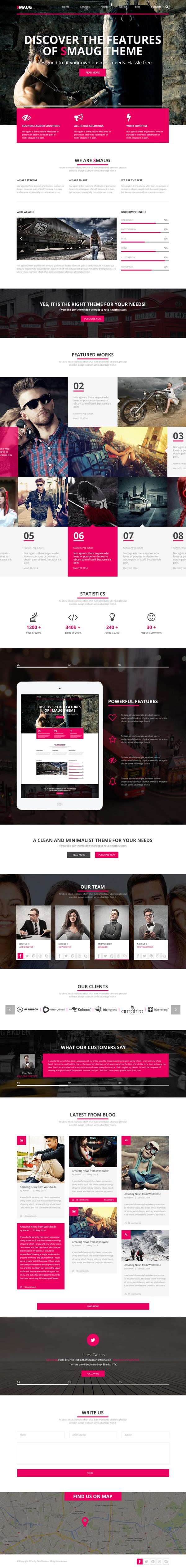 Smaug - One Page PSD HTML5 Theme