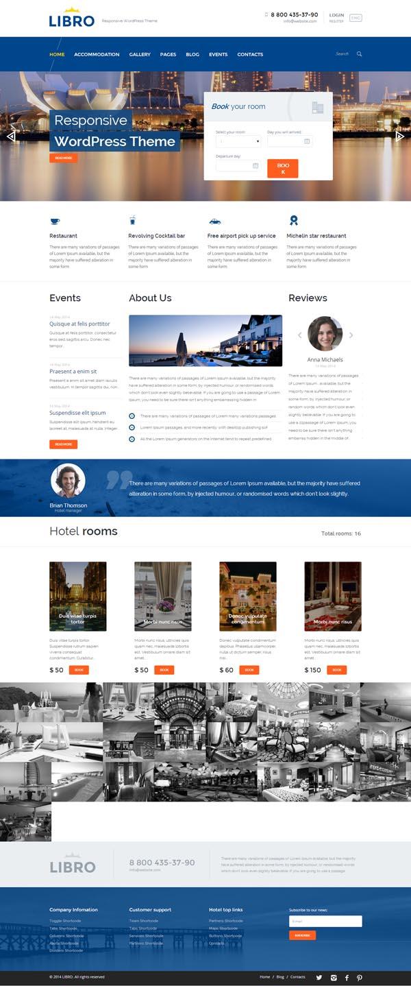 Libro Responsive WordPress Theme