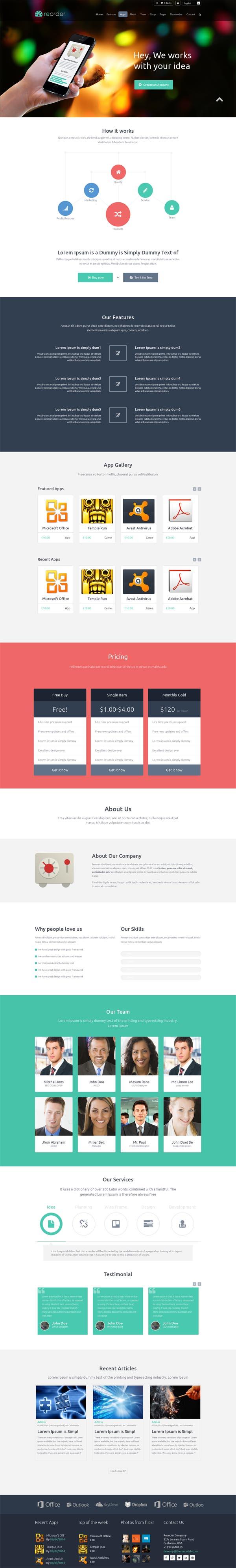 Reorder || Responsive WP/Woo-commerce theme