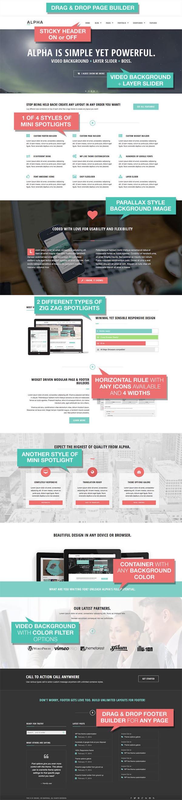 Alpha - Ultra Flexibile Responsive WordPress Theme