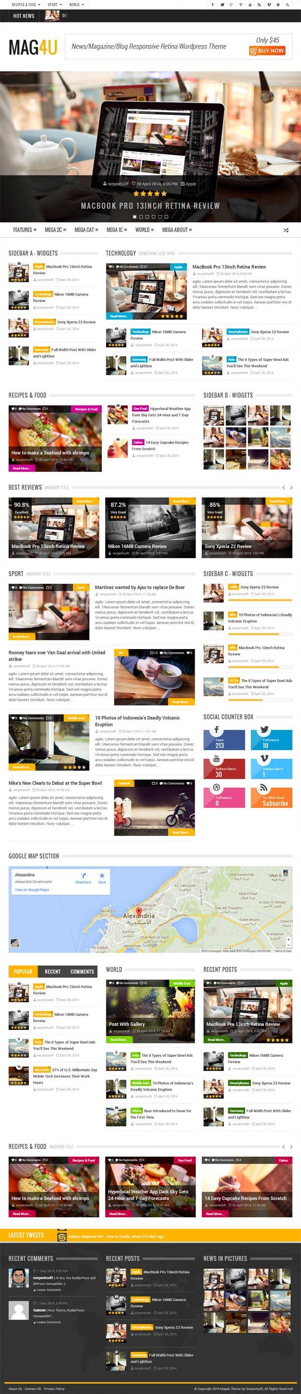 Mag4u – Responsive WordPress News, Magazine, Blog