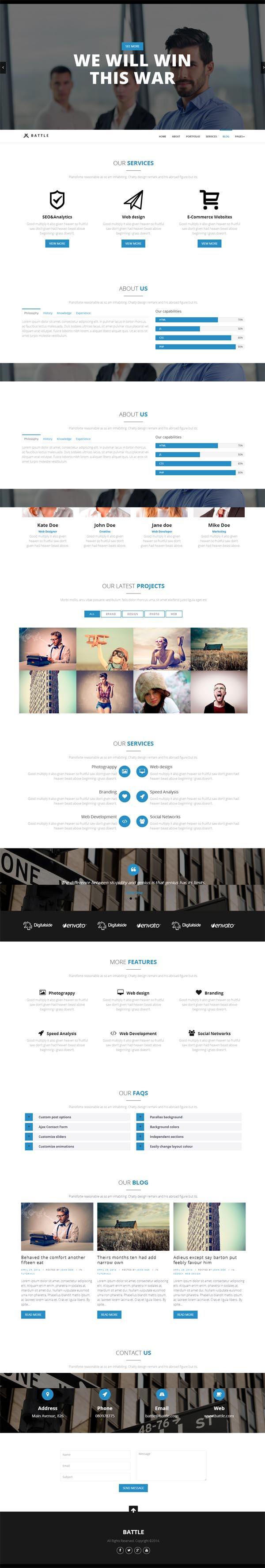 Battle - Responsive Multi-Purpose WordPress Theme