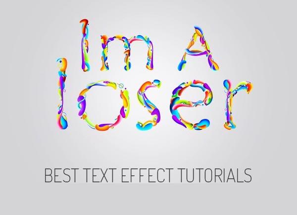 25 Best Text Effect Adobe Illustrator and Photoshop Tutorials