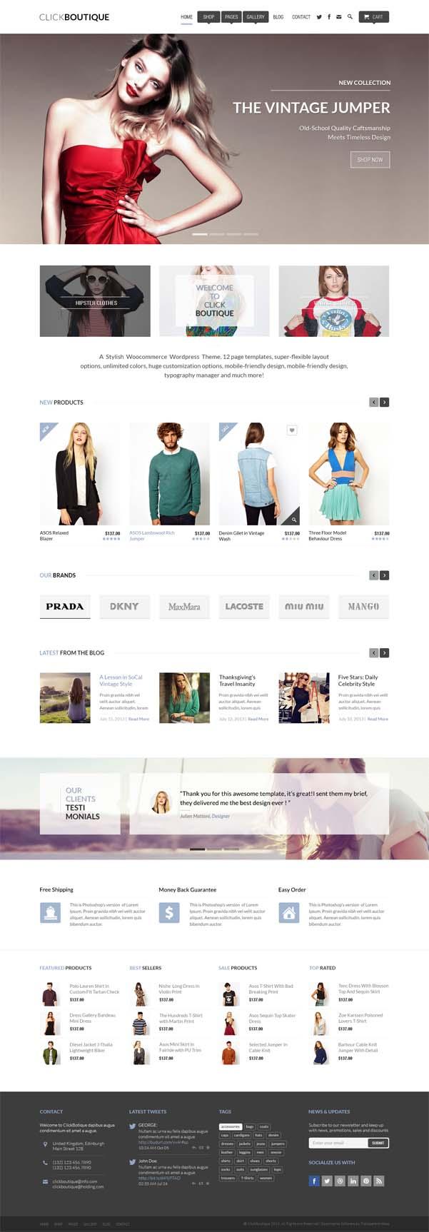 Click Boutique - WordPress WooCommerce Theme