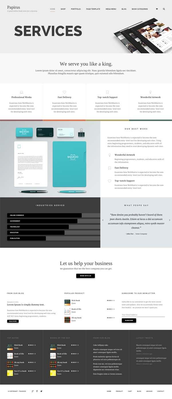 Papirus - Ultimate WordPress Book Store
