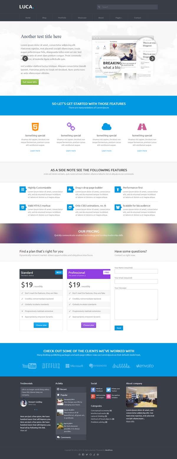 Luca - Premium WordPress Theme