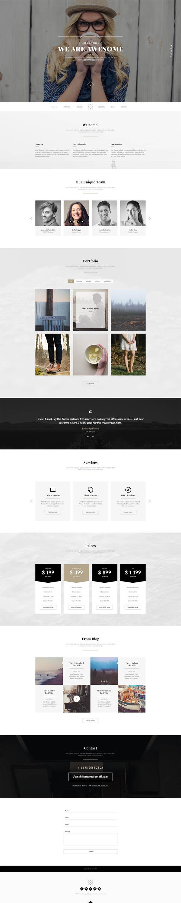 Secret – Elegant Minimal Onepage PSD