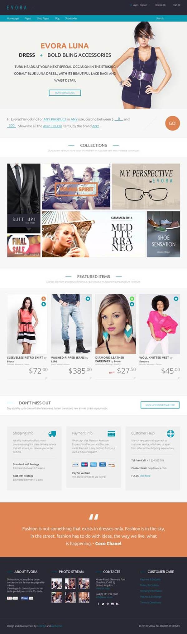 Evora – Responsive e-Commerce Theme