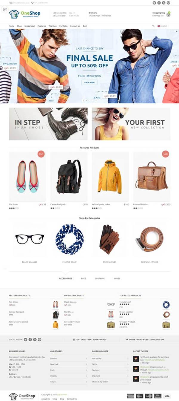 123Shop eCommerce WordPress Theme