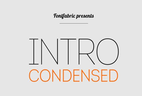 Intro Condensed Font