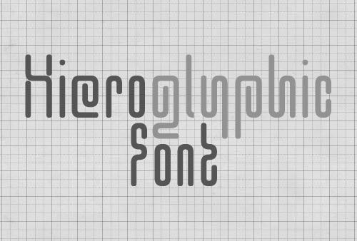 Hieroglyphic Font