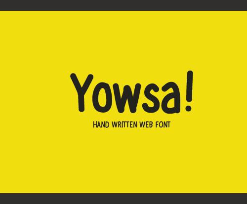 Yowsa Font