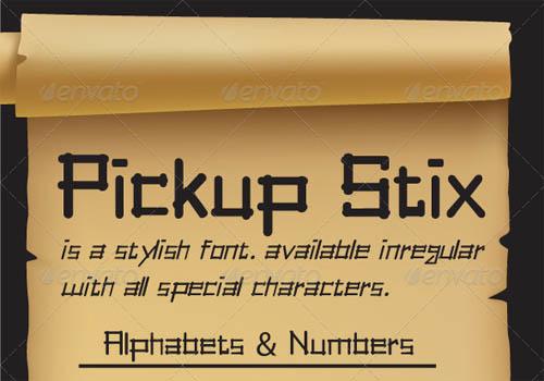 Pickup Stix font