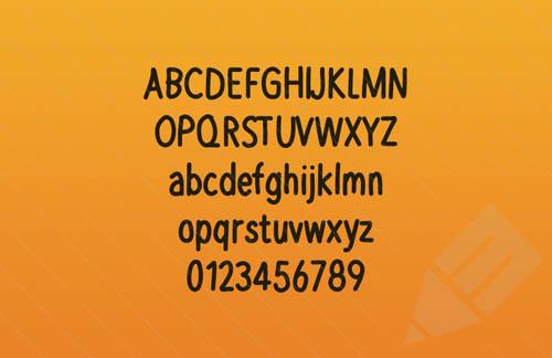 Yowsa – Bold Hand Written Web Font