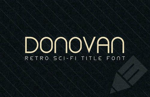 Donovan - Retro Sci-Fi Title Font