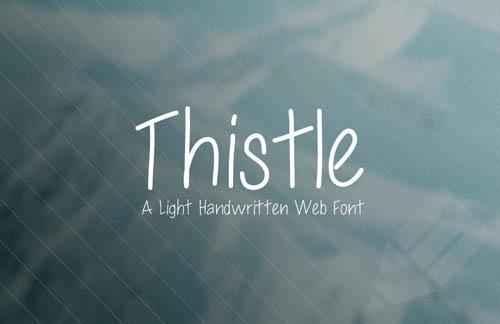 Thistle - Light Handwritten Web Font