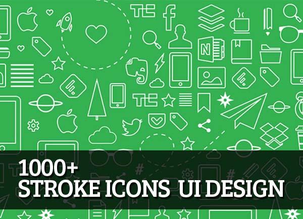 1000+ Stroke Icons  UI Design – Free Download