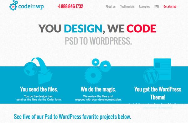 CodeinWP aPSD to WordPress company