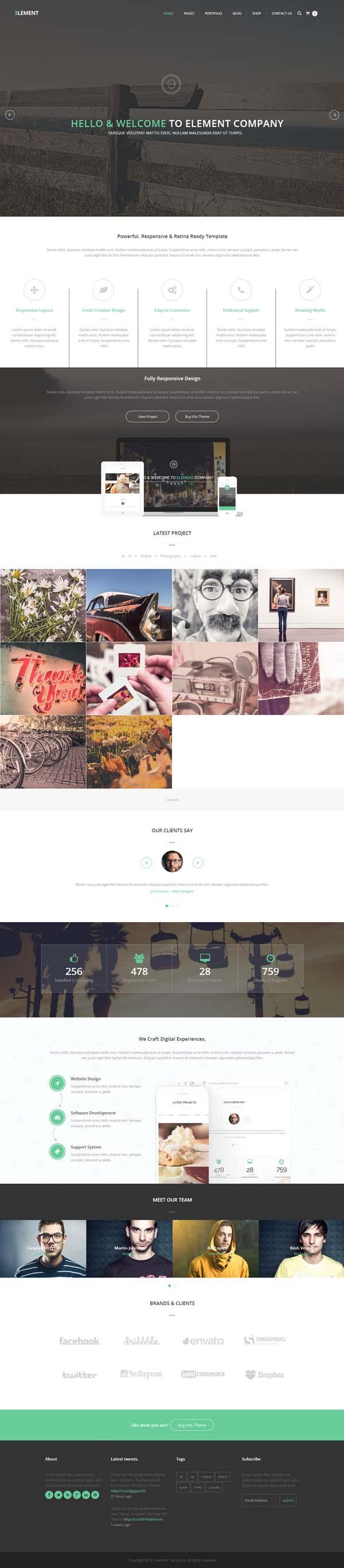 Element - Responsive Multipurpose WordPress Theme