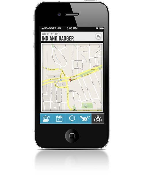 Ink & Dagger Tattoo Studio mobile app