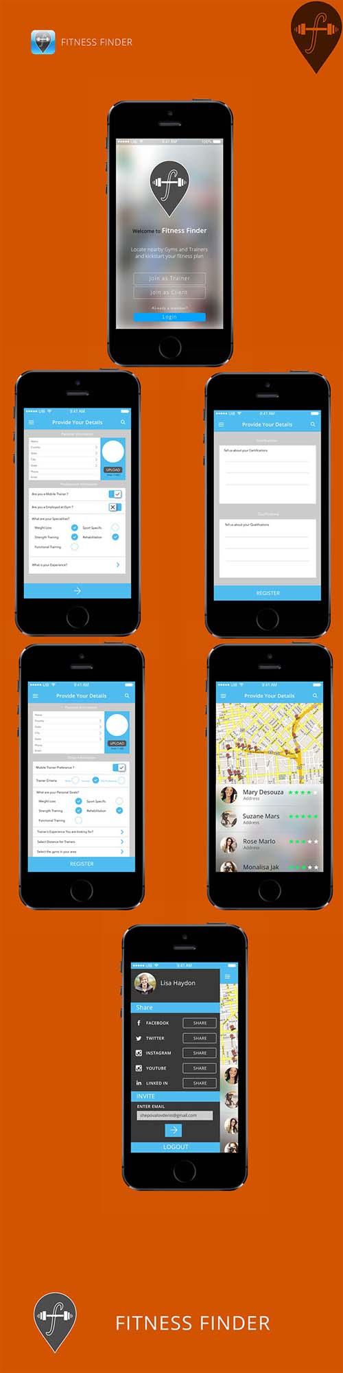 Fitness Finder UI Design Concept