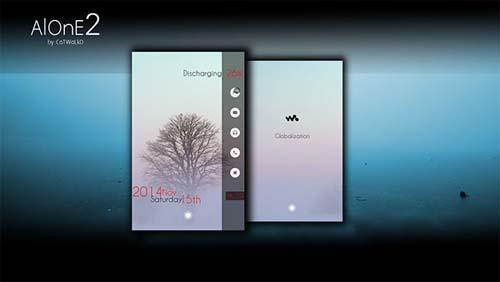 AlOnE2 UltRa MInML Mobile Theme