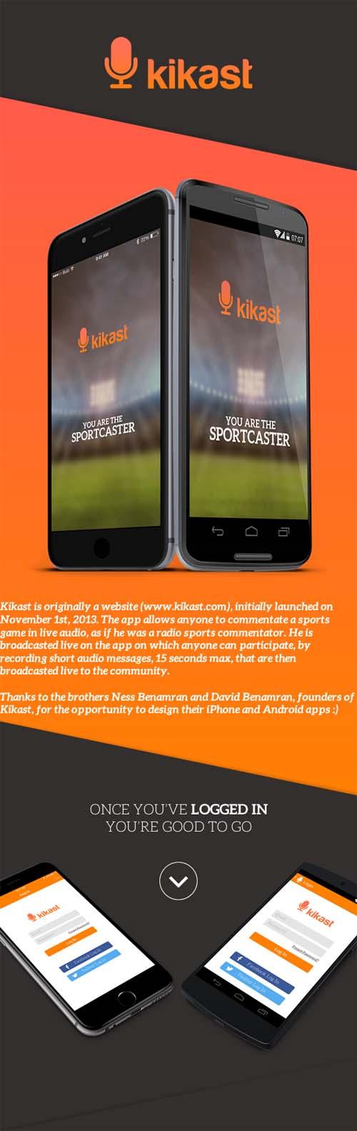 Kikast - Sports App