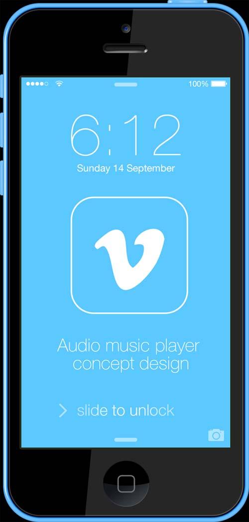 Vimeo Audio Player Concept Design