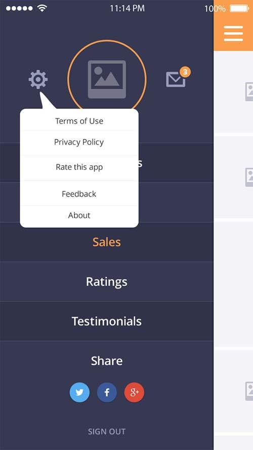 mobile app UX / UI desing
